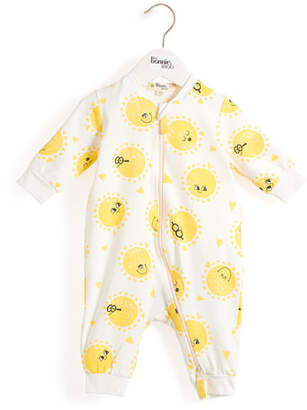 bonniemob Sunshine Smiley Face Coverall, Size 0-18 Months