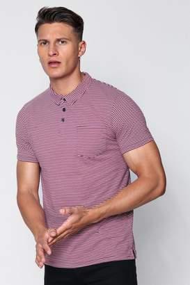 boohoo Stripe Yarn Dye Polo