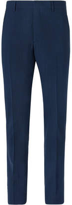 Prada Navy Slim-Fit Mélange Wool-Blend Suit Trousers