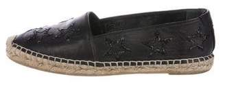 Saint Laurent Leather Star Espadrilles