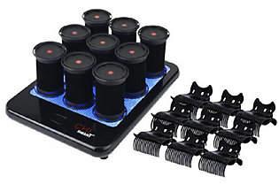 Chi Smart Set of 9 Ceramic Hot Rollers w/Clips& Platform