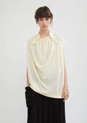J.W.Anderson Ruched Neck Silk Shell Top