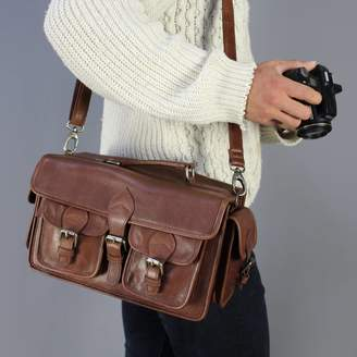At Notonthehighstreet Vintage Child Style Leather Camera Bag