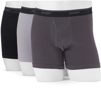 Jockey Men's 3-pack Essential Fit Staycool+ Boxer Briefs