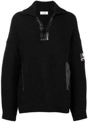 Courreges half-zip drop shoulder sweater