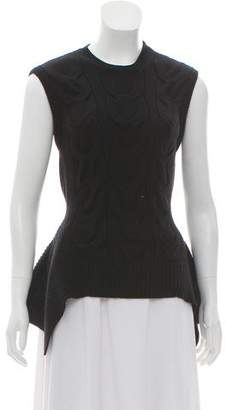 Alexander McQueen Sleeveless Cable Knit Sweater