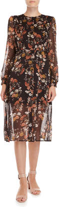Lush Floral Ruffled Shirtdress