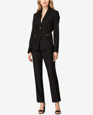 Tahari ASL Two-Button Pantsuit