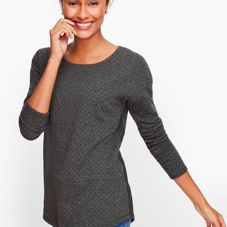 Talbots Double Knit Dot Top