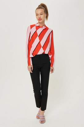 Petite high waist cigarette trousers