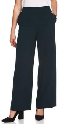 CeCe Ruffle Pocket Moss Crepe Pants