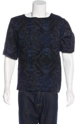 Dries Van Noten Wool-Blend Short Sleeve Sweater
