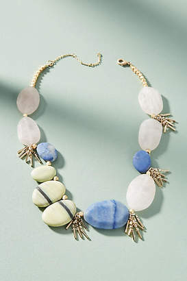 Anthropologie Azure Sky Bib Necklace DWF2UXwRIE