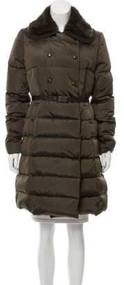 Moncler Alchemille Fur-Trimmed Coat
