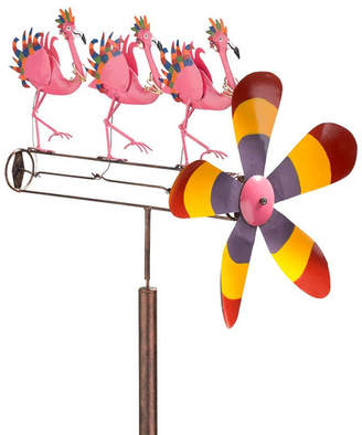Wind & Weather Flamingo Chorus Line Whirligig Spinner