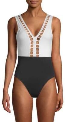 OYE Swimwear Ela Plunging Back One-Piece Swimsuit
