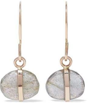 Melissa Joy Manning 14-Karat Gold Labradorite Earrings