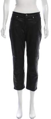 IRO Mid-Rise Lamb Leather Pants