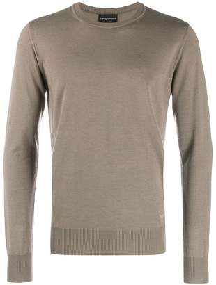 Emporio Armani ribbed detail jumper