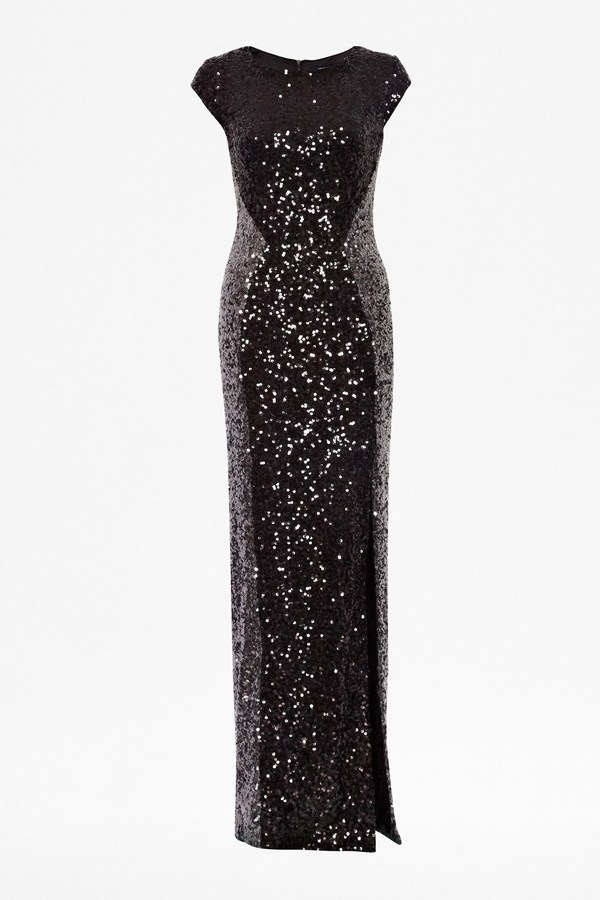 French Connection Spectacular Sparkle Maxi Dress