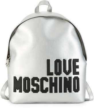Love Moschino Metallic Statement Backpack