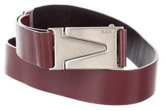 Tod's Leather Logo Belt