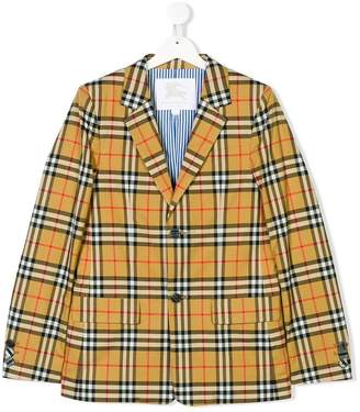 Burberry TEEN House Check poplin jacket