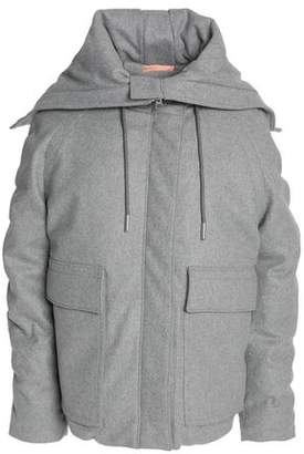 Acne Studios Wool-Blend Hooded Coat