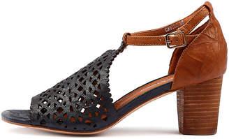 Django & Juliette Cavila Navy-tan Sandals Womens Shoes Dress Heeled Sandals