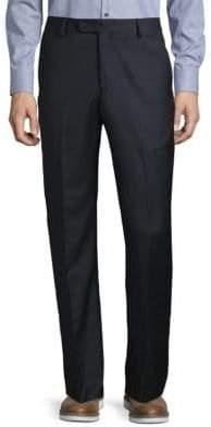 Saks Fifth Avenue Sharkskin Wool Dress Pants