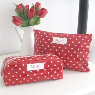 Lucy Lilybet Personalised Floral Washbag And Cosmetic Bag