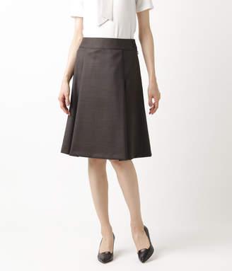 NEWYORKER women's 【アウトレット】ウールストレッチツイル タックフレアスカート