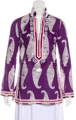 Tory Burch Embellished Long Sleeve Top