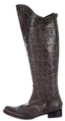 Henry Beguelin Embossed Leather Over-The Knee Boots
