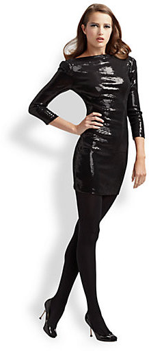 Ali Ro Sequined Low Back Dress