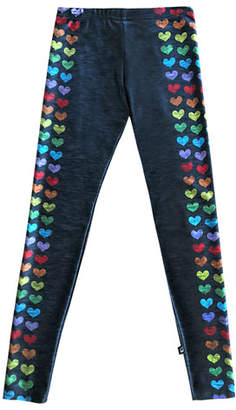 Terez Love Is Love Heart-Print Leggings, Size 7-16
