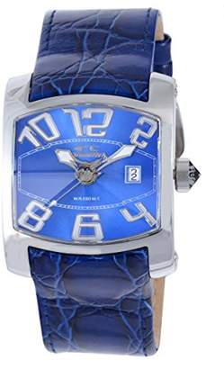 Chronotech Men's CT.7701M/03 Blue Calfskin Band watch.
