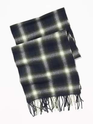 Old Navy Patterned Flannel Scarf for Men