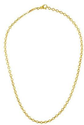 Chaumet 18K Rolo Chain Necklace