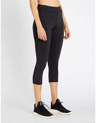 Calvin Klein Logo-print cropped stretch-jersey leggings