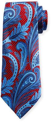 Ermenegildo Zegna Three-Dimensional Paisley Silk Tie, Red $195 thestylecure.com