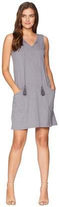 Mod-o-doc Slub Jersey Notch Seamed Tank Dress with Pockets Women's Dress