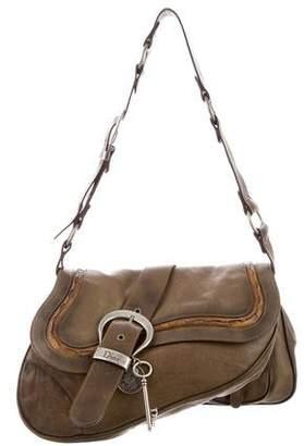 Christian Dior Leather Gaucho Saddle Bag