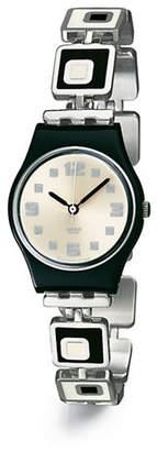 Swatch Chessboard Stainless Steel Bracelet Watch