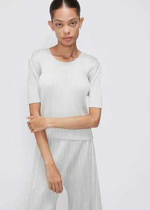 Pleats Please Issey Miyake Scoop Neck Top