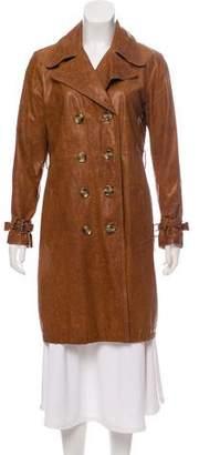 MICHAEL Michael Kors Notch-Lapel Knee-Length Jacket