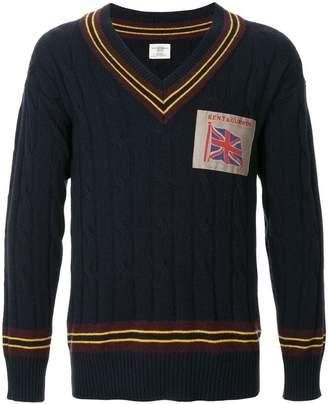 Kent & Curwen union jack patch jumper