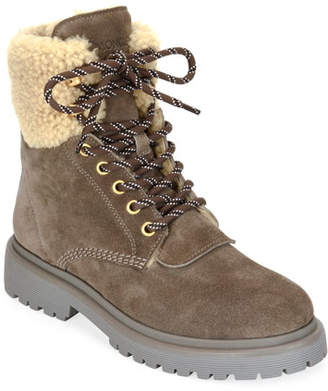 Moncler Patty Scarpa Suede Boots
