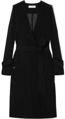 Victoria Beckham Technical Crepe Trench Coat - Black