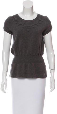 Chanel Short Sleeve Wool Top